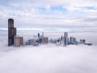 Fototapete - Chicago Foggy