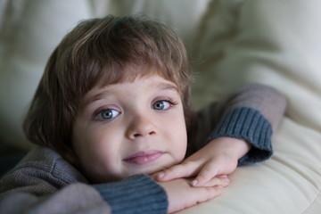 little boy face, fun, close up