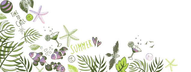 Summer doodles background