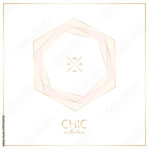 Set of trendy chic pastel colored cards with gold geometric shapes set of trendy chic pastel colored cards with gold geometric shapes abstract unusual textures for reheart Images