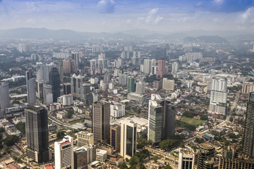 View of buildings in the city of Kuala Lumpur Malaysia