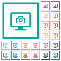 Make screenshot flat color icons with quadrant frames