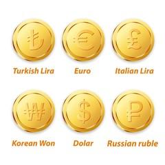 Digital Vector Coin Gold