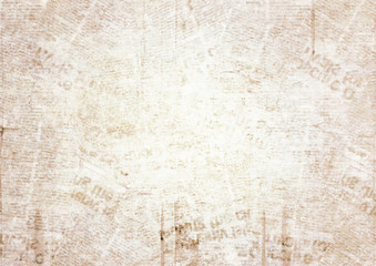 Old grunge newspaper texture background