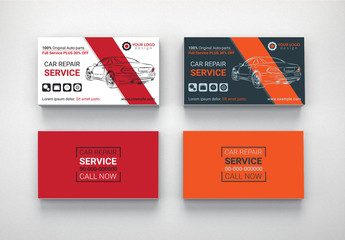 Automotive Services Business Card Layouts 4