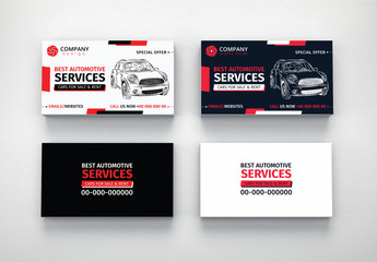 Automotive Services Business Card Layouts 6