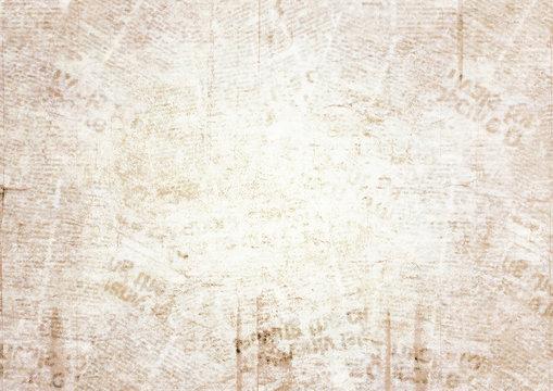 Old grunge newspaper texture background