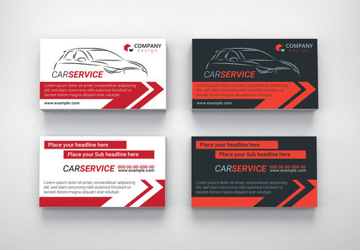 Automotive Services Business Card Layouts 7