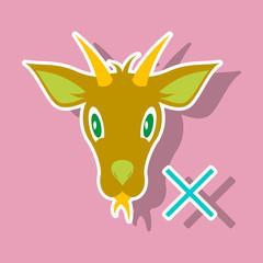 goat animal farm icon