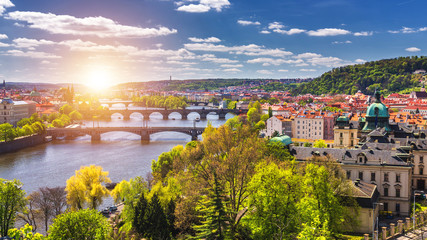 Spring day in the city, Prague, Czech Republic