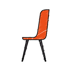 plastic chair furniture comfort image vector illustration