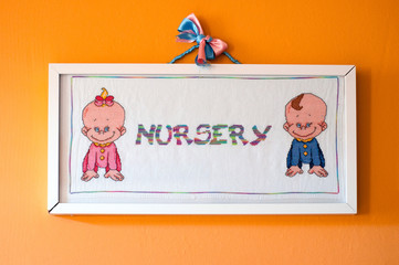 nursery illustration in a frame