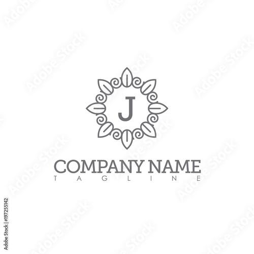 j modern letter logo template