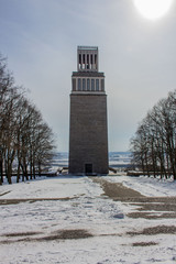 Gedenkstätte Buchenwald in Thüringen an einen Kalten Wintertag