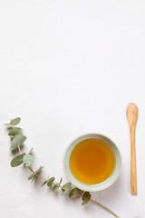 Herbal tea. Natural body care concept