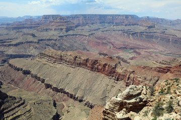 Viewpoint in Grand Canyon National Park. Arizona. USA
