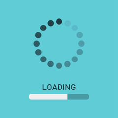 Loading icon. Loading process screen. Load bar for mobile and other app.
