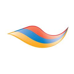 Armenia flag, vector illustration