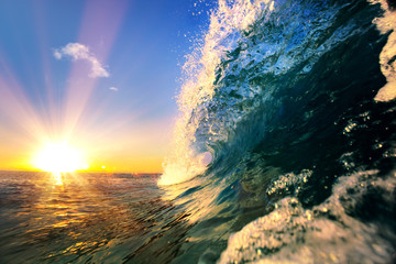 Ocean wave sea tropical background