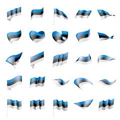 Estonia flag, vector illustration