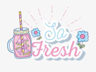 So fresh summer juice
