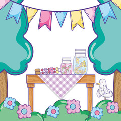 Summer food picnic