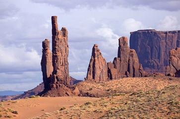 Totem Pole in Monument Valley Navajo Tribal Park, Arizona