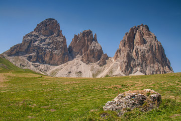Langkofelgruppe, Dolomiten, Italien