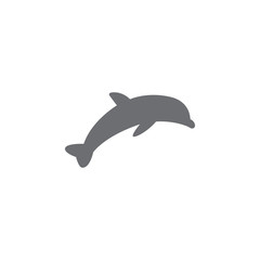 dolphin icon. Simple element illustration. dolphin symbol design template. Can be used for web and mobile