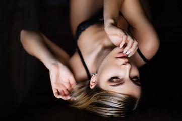 Portrait of sensual girl in underwear