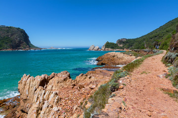 Hiking in the Featherbed Nature Reserve, Featherbed coast, Knysna, South Africa