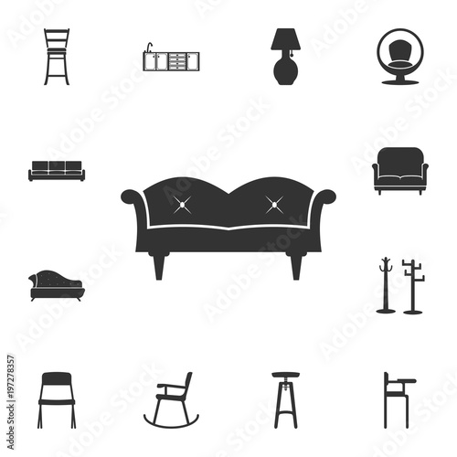 Sofa Icon Detailed Set Of Furniture Icons Premium Quality Graphic