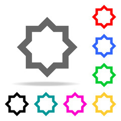 eight-pointed star icon. Elements of religion multi colored icons. Premium quality graphic design icon. Simple icon for websites, web design, mobile app, info graphics