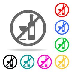 alcohol prohibition icon. Elements of religion multi colored icons. Premium quality graphic design icon. Simple icon for websites, web design, mobile app, info graphics