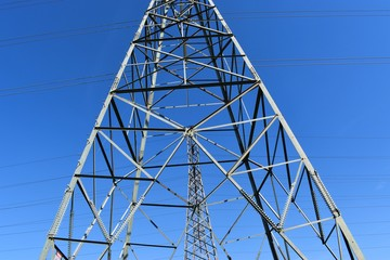 Large steel Power tower for electrical energy