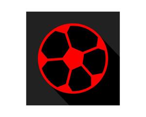 red black soccer ball sports equipment tool utensil image vector