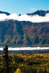 Ancient Lava Flow Rust Color Alaska Mountain Landscape