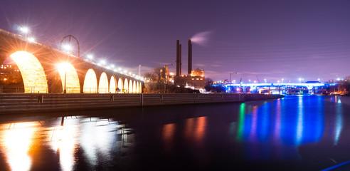 St Anthony Falls Lock Dam Mississippi River St Paul Minnesota