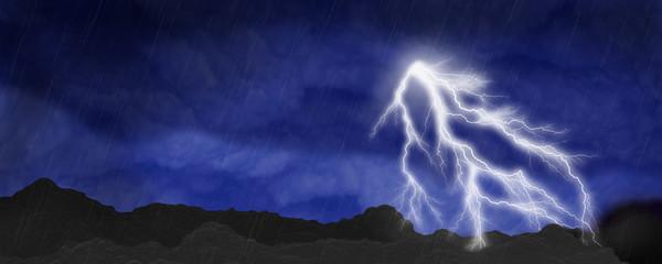 Lightning Storm Scene