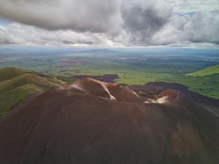Aerial view of Cerro Negro crater