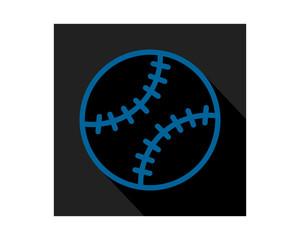 blue black baseball icon sports equipment tool utensil image vector