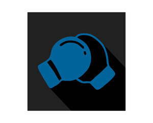 blue black boxing glove sports equipment tool utensil image vector