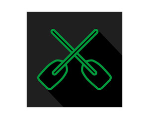 green black paddle icon sports equipment tool utensil image vector