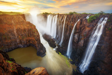 Victoria Falls in Zambia and Zimbabwe