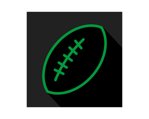 green black rugby icon sports equipment tool utensil image vector
