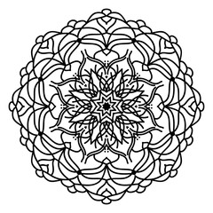 Mandala flower freehand drawing vintage style decorative elements for abstract background