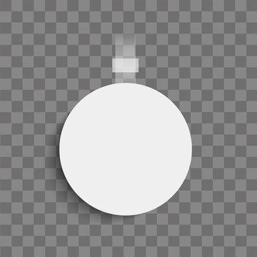 Realistic Wobbler on transparent background. Vector.