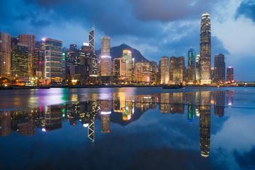 Printed kitchen splashbacks Hong-Kong Hong Kong skyline