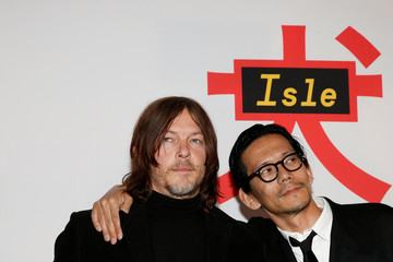Cast members Norman Reedus and Kunichi Nomura arrive for a screening of 'Isle of Dogs' in New York
