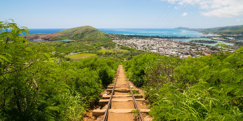 Koko Head Staircase on Oahu, Hawaii